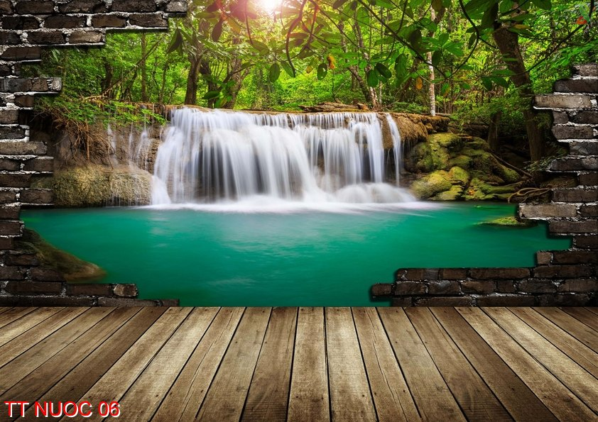 Tranh thác nước 06