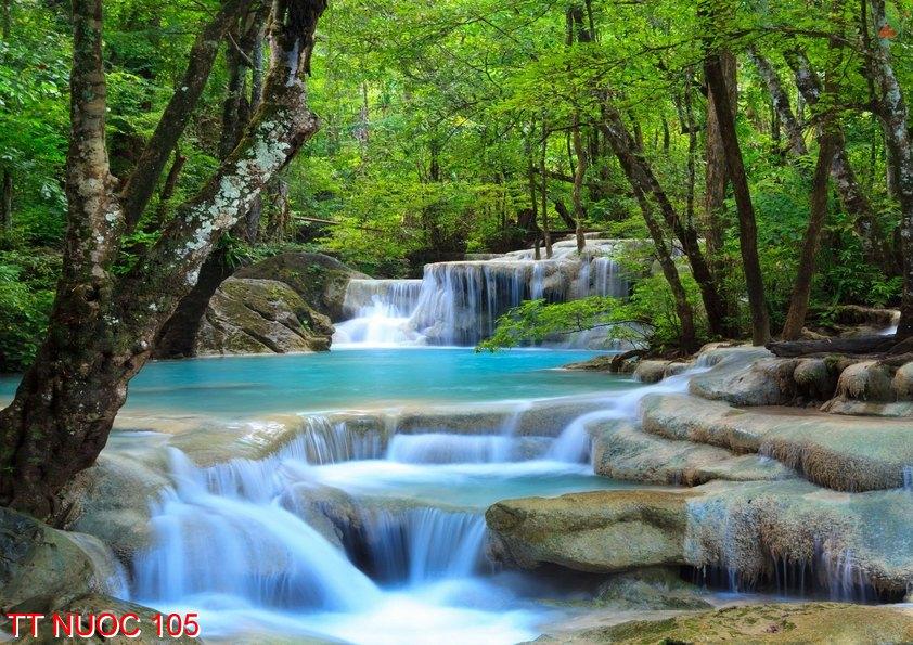 Tranh thác nước 105