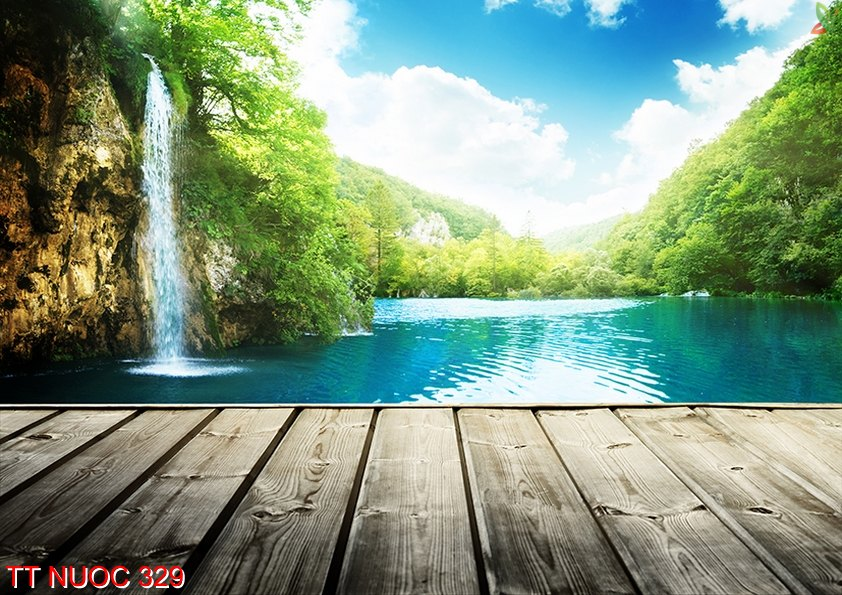 Tranh thác nước 329