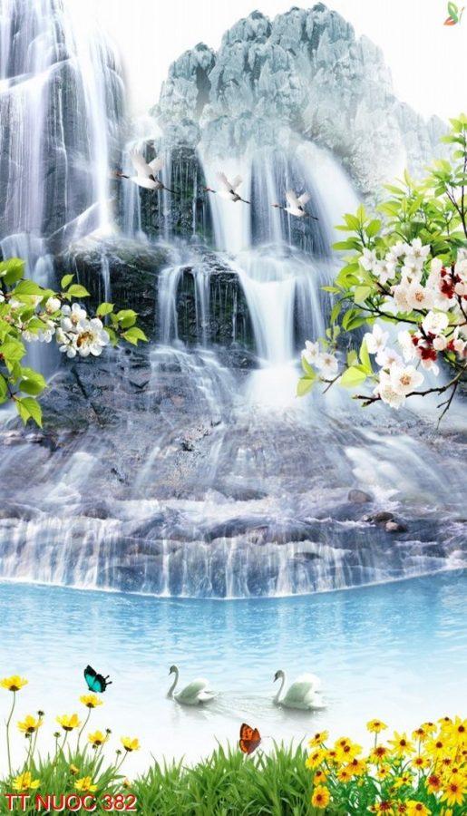 Tranh thác nước 382