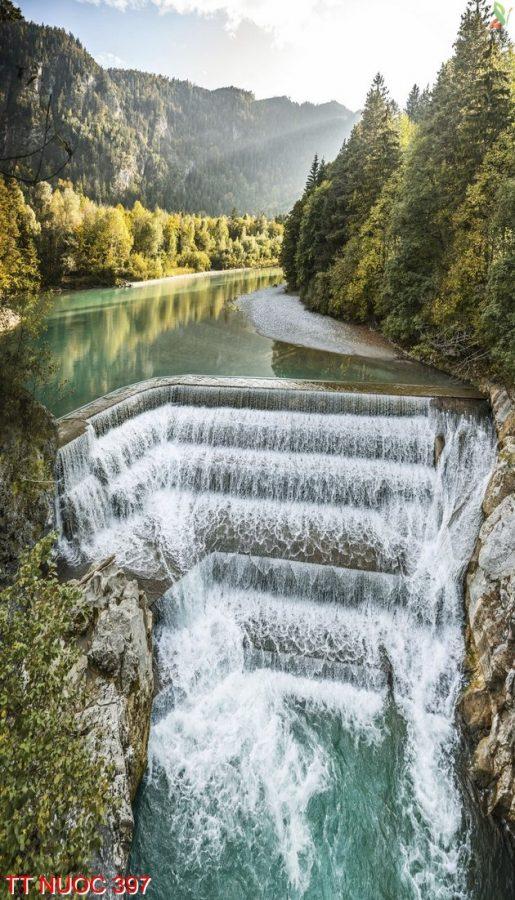 Tranh thác nước 397