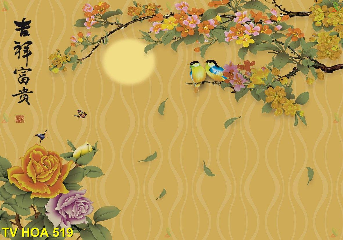 Tranh về hoa TV Hoa 519