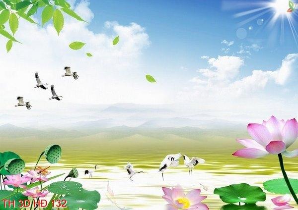 tranh dán tường 3d phong cảnh 2