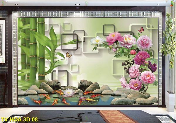 tranh dán tường 3d phòng ngủ 1
